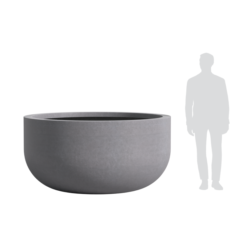 Quatro Design 1800 Tall U Bowl Scale Reference