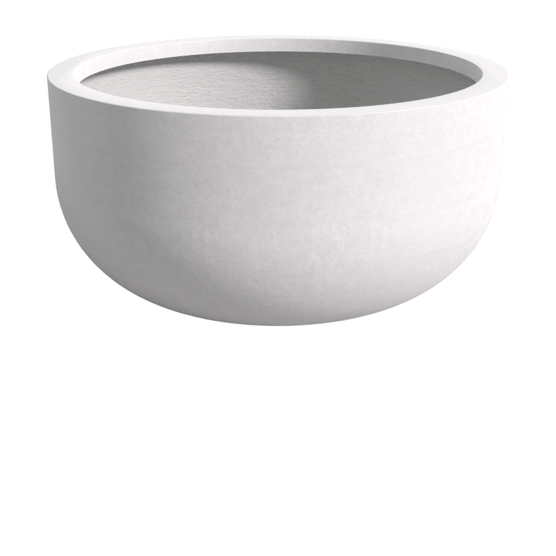 Quatro Design 1800 Tall U Bowl in White